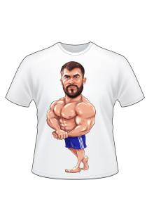 Шарж цифровой для печати на футболке