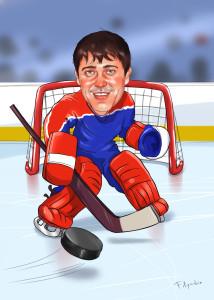Шарж в подарок для хоккеиста