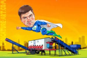 Шарж супермена,подарок шефу на день рождения