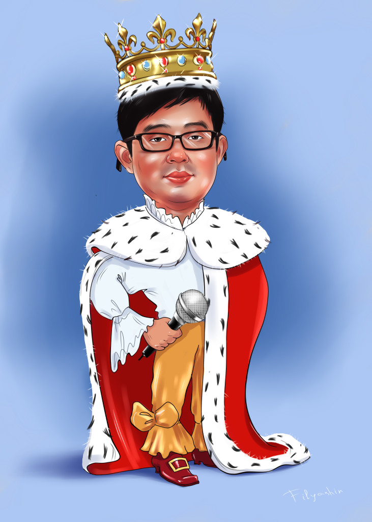 Шарж с короной для печати