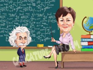 Шарж учителю,шарж учителя физики