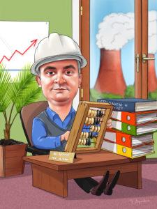 Шарж бухгалтеру в подарок,рисунок энергетика в офисе