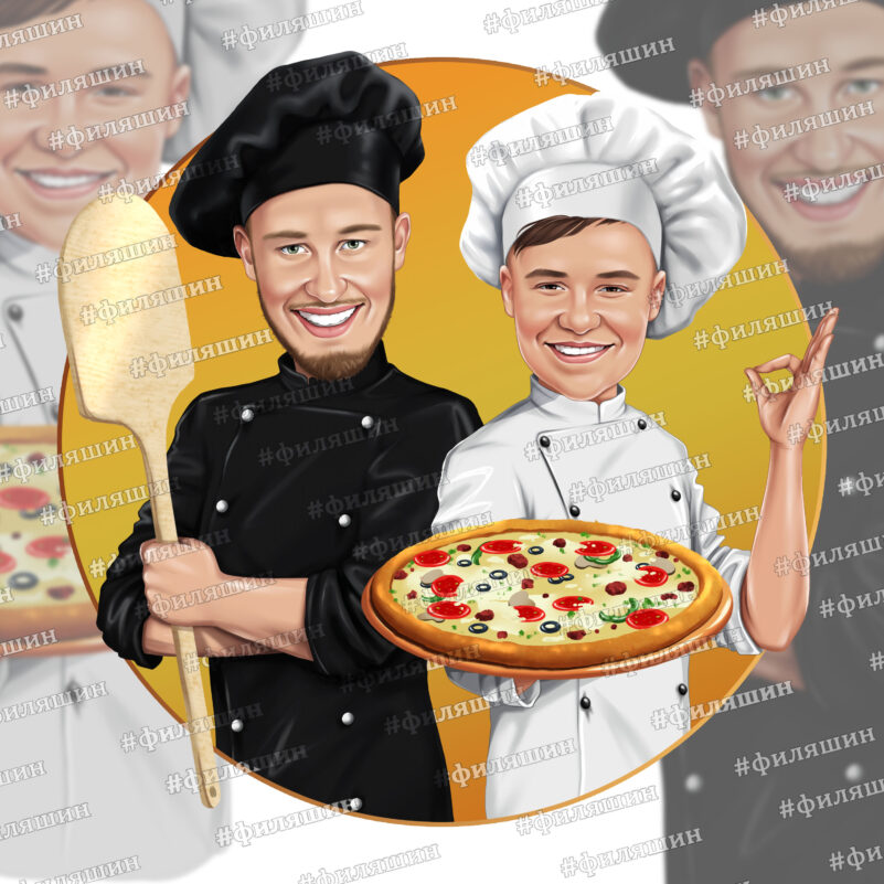 Логопортрет пиццайоло