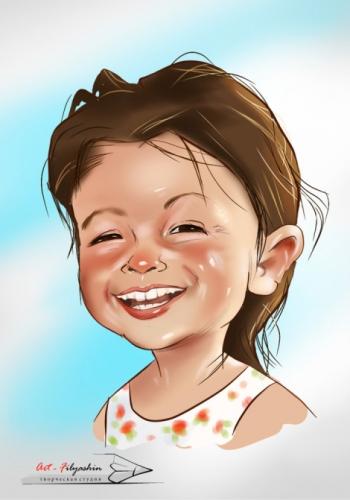 Шарж ребёнка по фото,шарж лица