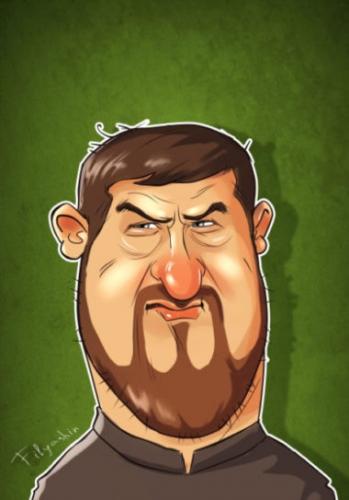 Шарж Кадырова в качестве примера мульт аватарки для вк