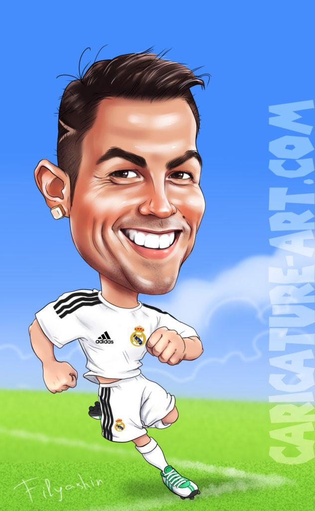 Рисунок Роналдо, шарж Роналдо