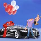 Шаблон для шаржа парня с машиной Maybach