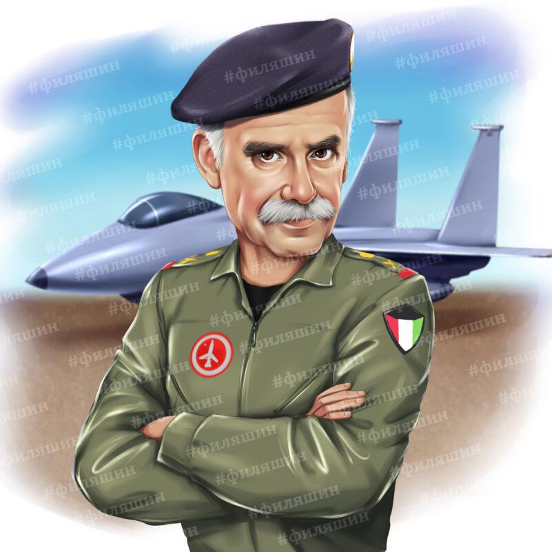 Шарж военного лётчика